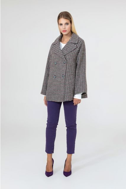 CAPPOTTO OVER PIED DE POULE