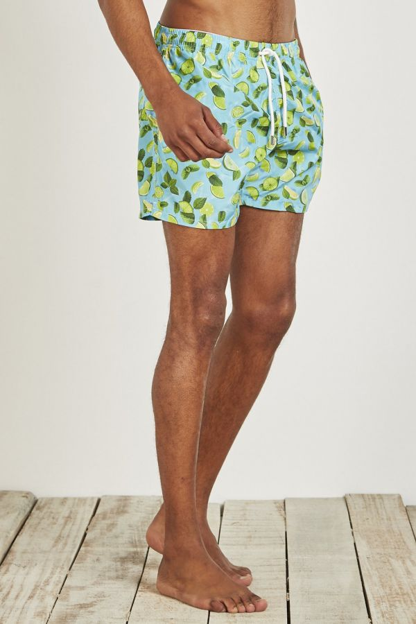 BOXER MARE STAMPA LIME