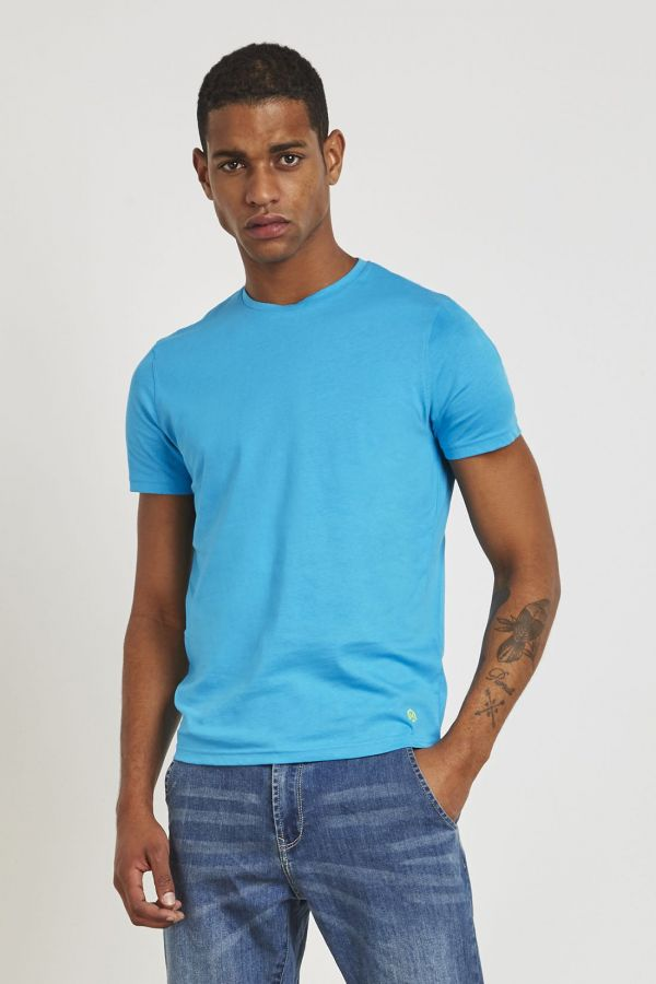 T-SHIRT BASIC CON STAMPA FLUO